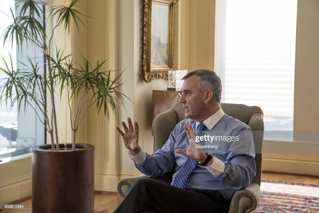 Claudio Melandri, chief executive officer of Banco Santander Chile, speaks during an interview in Santiago, Chile, on Wednesday, Aug. 16, 2017. Banco Santander Chile is the largest bank in the region in terms of total assets and equity. Photographer: Cristobal Olivares/Bloomberg via Getty Images