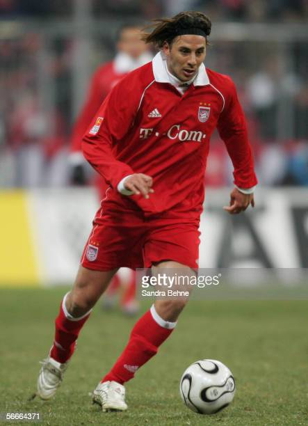 Claudio Pizarro of Bayern runs with the ball during the quarter final match of the DFB German Cup between Bayern Munich and FSV Mainz 05 at the...