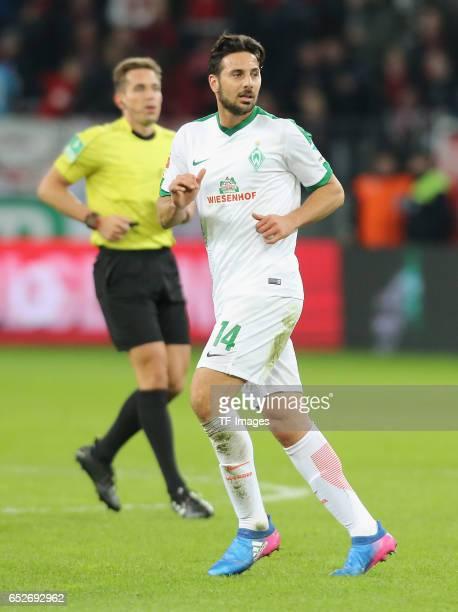 Claudio Pizarro of Bremen looks on during the Bundesliga soccer match between Bayer Leverkusen and Werder Bremen at the BayArena stadium in...