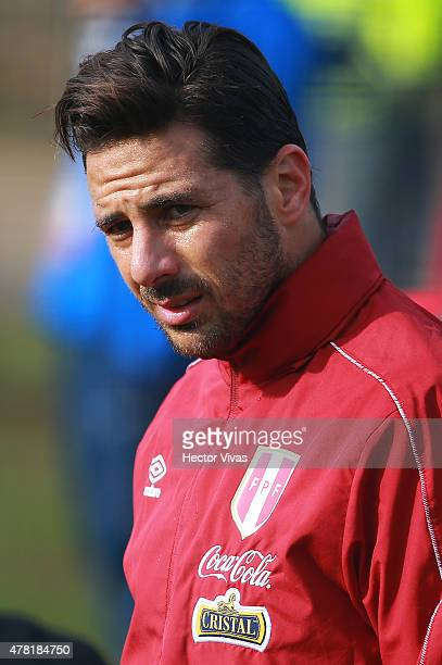 Claudio Pizarro of Peru during a training session at German Becker Stadium on June 23 2015 in Temuco Chile Peru will face Bolivia as part of 2015...