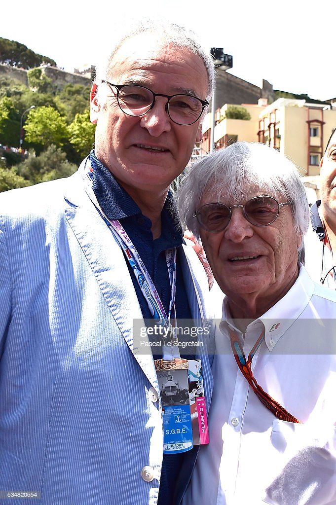 <a gi-track='captionPersonalityLinkClicked' href=/galleries/search?phrase=Claudio+Ranieri&family=editorial&specificpeople=204468 ng-click='$event.stopPropagation()'>Claudio Ranieri</a> and <a gi-track='captionPersonalityLinkClicked' href=/galleries/search?phrase=Bernie+Ecclestone&family=editorial&specificpeople=211579 ng-click='$event.stopPropagation()'>Bernie Ecclestone</a> attend the Practice session of the F1 Grand Prix of Monaco on May 28, 2016 in Monte-Carlo, Monaco.