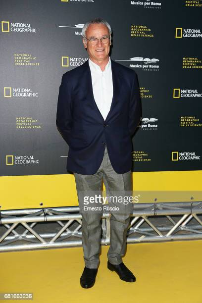 Claudio Ranieri attends National Geographic's 'Genius Einstein' photocall on May 10 2017 in Rome Italy