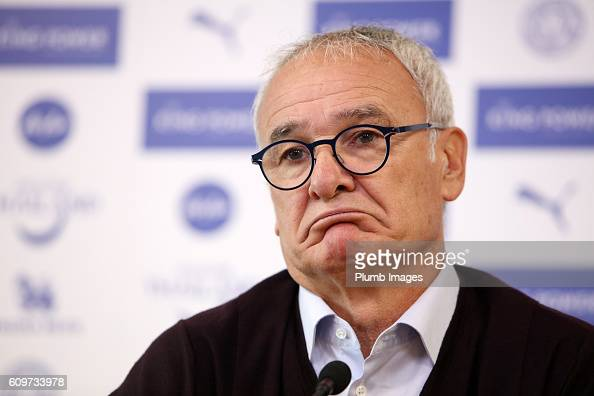 Claudio Ranieri attends the Leicester City press conference at King Power Stadium on September 22 2016 in Leicester United Kingdom