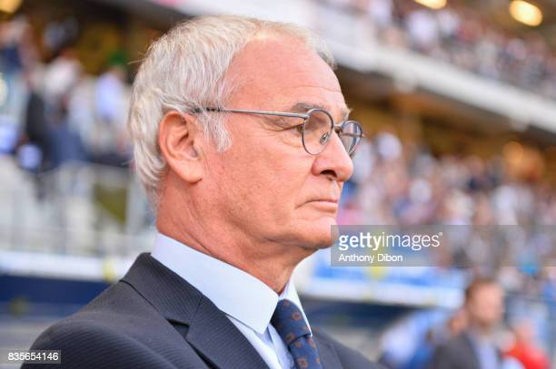 Claudio Ranieri coach of Nantes during the Ligue 1 match between Troyes Estac and FC Nantes at Stade de l'Aube on August 19 2017 in Troyes