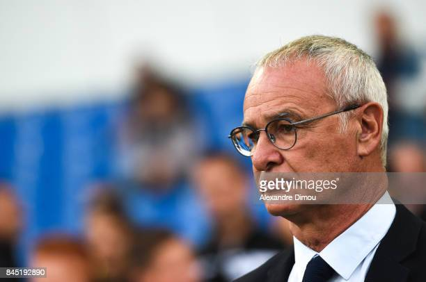 Claudio Ranieri Coach of Nantes during the Ligue 1 match between Montpellier Herault SC and Nantes at Stade de la Mosson on September 9 2017 in...