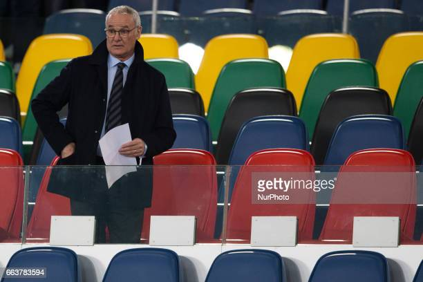 Claudio Ranieri during the International Friendly Under 21 Italia v Spagna at Olimpico Stadium on March 27 2017 in Rome Italy