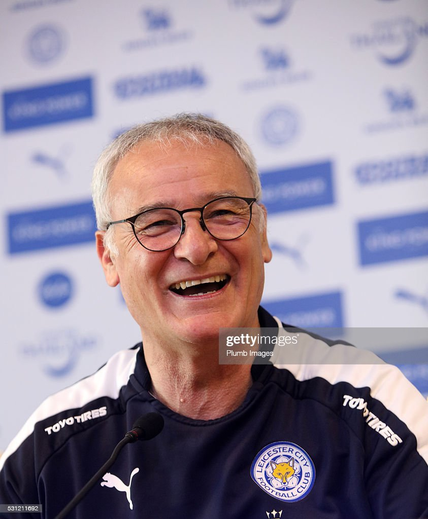 Claudio Ranieri during the Leicester City press conference at King Power Stadium on May 13th 2016 in Leicester United Kingdom