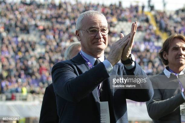 Claudio Ranieri during the Serie A match between ACF Fiorentina and Cagliari Calcio at Stadio Artemio Franchi on March 12 2017 in Florence Italy