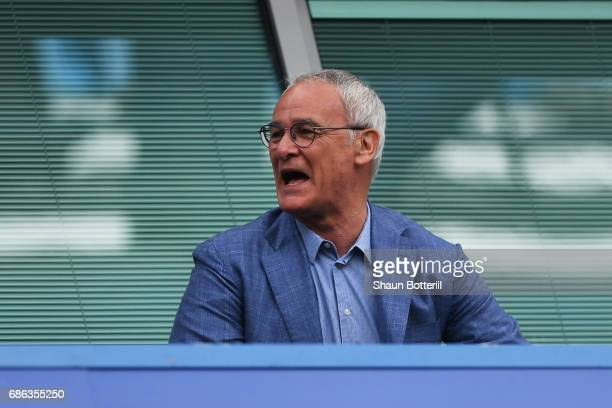 Claudio Ranieri ex Leicester City manager looks on during the Premier League match between Chelsea and Sunderland at Stamford Bridge on May 21 2017...