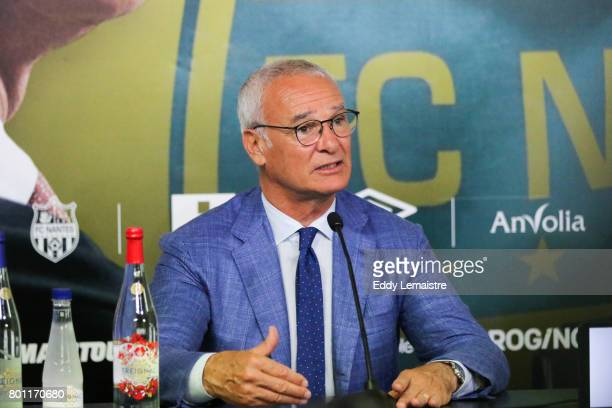 Claudio Ranieri head coach of Fc Nantes during Press conference of Fc Nantes on June 26 2017 in Nantes France