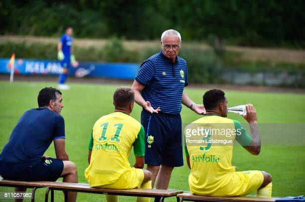 Claudio Ranieri head coach of Nantes during the friendly match between Fc Nantes and Lausanne Sport on July 8 2017 in Annecy France