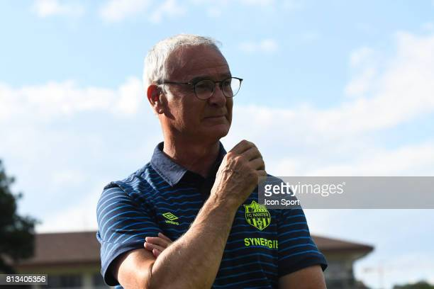 Claudio Ranieri head coach of Nantes during the friendly match between Fc Nantes and Servette Fc on July 12 2017 in Annecy France