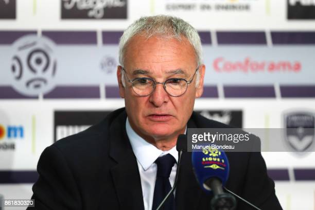 Claudio Ranieri head coach of Nantes during the Ligue 1 match between FC Girondins de Bordeaux and FC Nantes at Stade Matmut Atlantique on October 14...