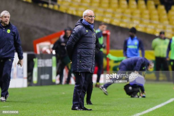 Claudio Ranieri Head coach of Nantes during the Ligue 1 match between Nantes and OGC Nice at Stade de la Beaujoire on December 10 2017 in Nantes