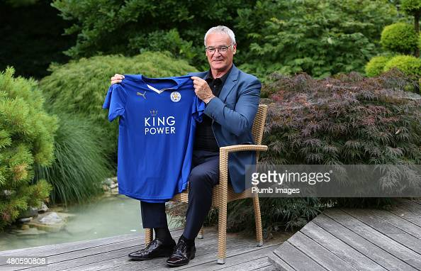 Claudio Ranieri is unveiled as the new Leicester City manager at their preseason training camp on July 13 2015 in Spielfeld Austria