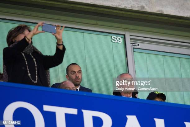 Claudio Ranieri looks on during the Premier League match between Chelsea and Manchester City at Stamford Bridge on April 5 2017 in London England