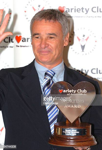Claudio Ranieri new coach for Valencia during 23rd Annual Variety Club Sporting Awards at Park Lane Hilton Hotel in London Great Britain