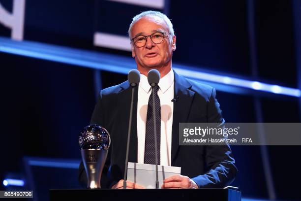 Claudio Ranieri present Best Mens Coach during The Best FIFA Football Awards at The London Palladium on October 23 2017 in London England