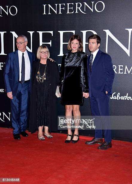Claudio Ranieri Rosanna Ranieri Claudia Ranieri Alessandro Roja walk the red carpet at 'Inferno' premiere at Opera di Firenze on October 8 2016 in...