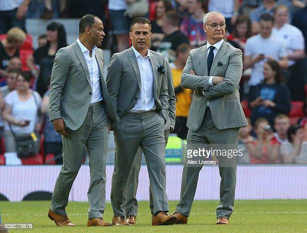 Claudio RanieriFabio Cannavaro and Cafu walk out with the Rest of the World team prior to the Soccer Aid 2016 match in aid of UNICEF at Old Trafford...