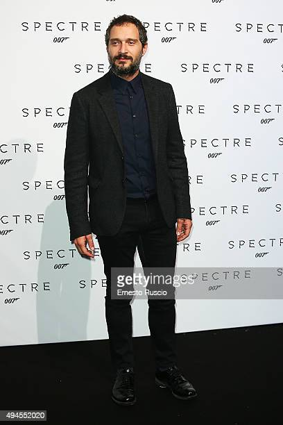 Claudio Santamaria attends a red carpet for 'Spectre' on October 27 2015 in Rome Italy