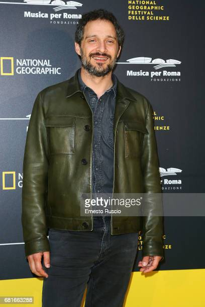 Claudio Santamaria attends National Geographic's 'Genius Einstein' photocall at Auditorium Parco della Musica on May 10 2017 in Rome Italy