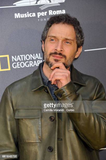 Claudio Santamaria attends National Geographic's 'Genius Einstein' photocall on May 10 2017 in Rome Italy