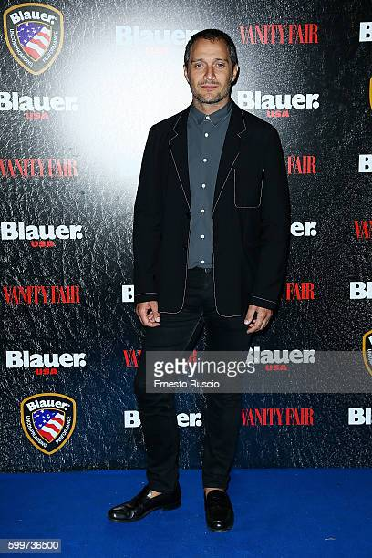 Claudio Santamaria attends the Cinema Under The Skin' Party hosted by Blauer and Vanity Fair during the 73rd Venice Film Festival at on September 6...