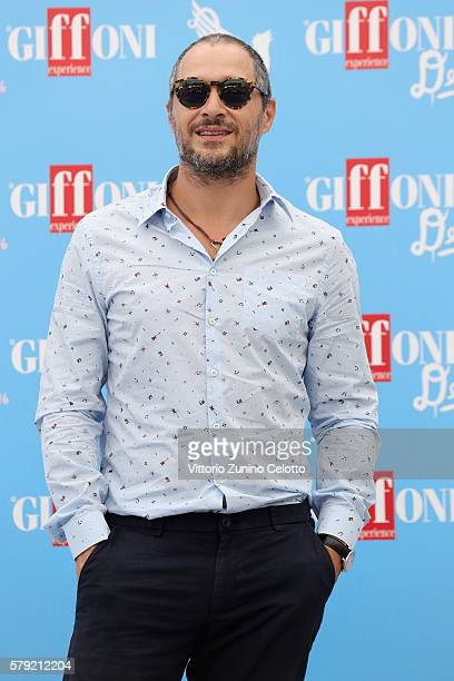 Claudio Santamaria attends the Giffoni Film Festival photocall on July 23 2016 in Giffoni Valle Piana Italy