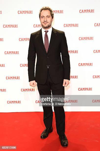 Claudio Santamaria walks the red carpet for 'Campari Red Diaries Killer In Red' on January 24 2017 in Rome Italy