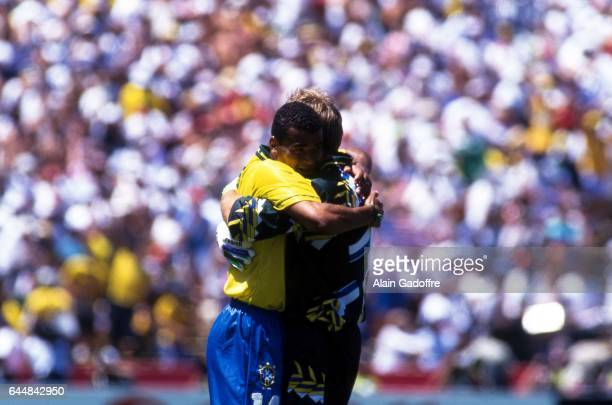 CAFU / Claudio TAFFAREL Bresil / Etats Unis 1/8Finale Coupe du Monde 1994 Photo Alain Gadoffre / Icon Sport