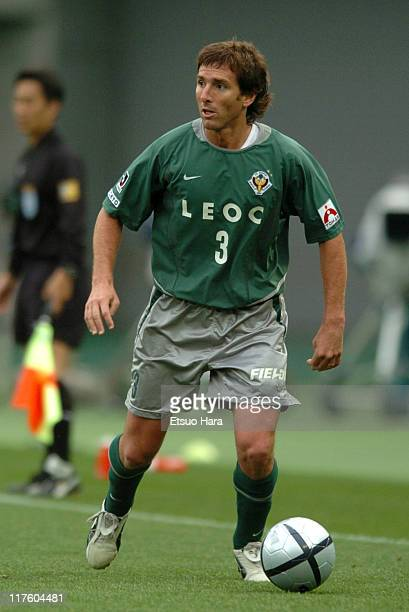 Claudio Ubeda of Tokyo Verdy 1969 in action during the JLeague Division 1 first stage match between Tokyo Verdy 1969 and JEF United Ichihara at...