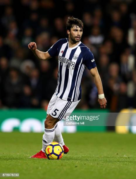 Claudio Yacob during the Premier League match between West Bromwich Albion and Chelsea at The Hawthorns on November 18 2017 in West Bromwich England