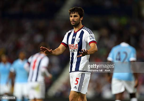 Claudio Yacob of West Bromwich Albion during the Barclays Premier League match between West Bromwich Albion and Manchester City at The Hawthorns on...