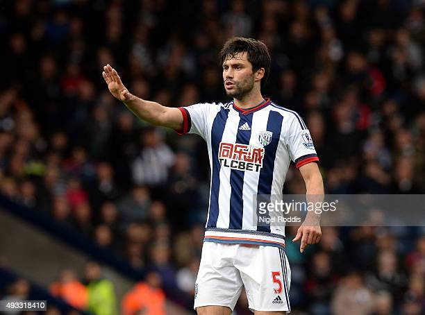 Claudio Yacob of West Bromwich Albion during the Barclays Premier League match between West Bromwich Albion and Sunderland at The Hawthorns on...