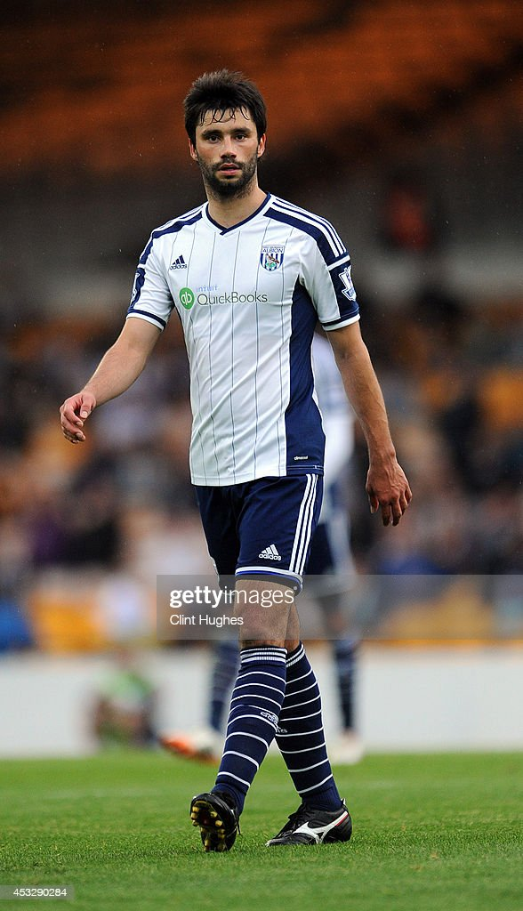 <a gi-track='captionPersonalityLinkClicked' href=/galleries/search?phrase=Claudio+Yacob&family=editorial&specificpeople=4104249 ng-click='$event.stopPropagation()'>Claudio Yacob</a> of West Bromwich Albion during the Pre Season Friendly match between Port Vale and West Bromwich Albion at Vale Park on August 5, 2014 in Burslem, England.