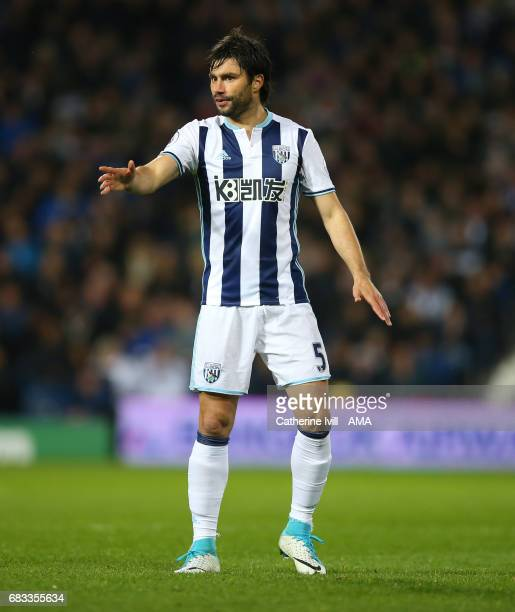 Claudio Yacob of West Bromwich Albion during the Premier League match between West Bromwich Albion and Chelsea at The Hawthorns on May 12 2017 in...
