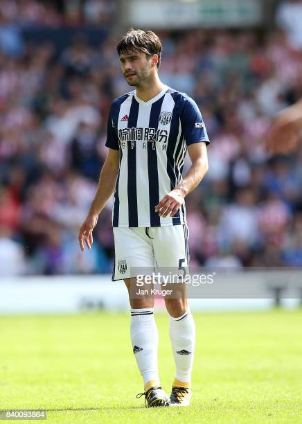 Claudio Yacob of West Bromwich Albion during the Premier League match between West Bromwich Albion and Stoke City at The Hawthorns on August 27 2017...