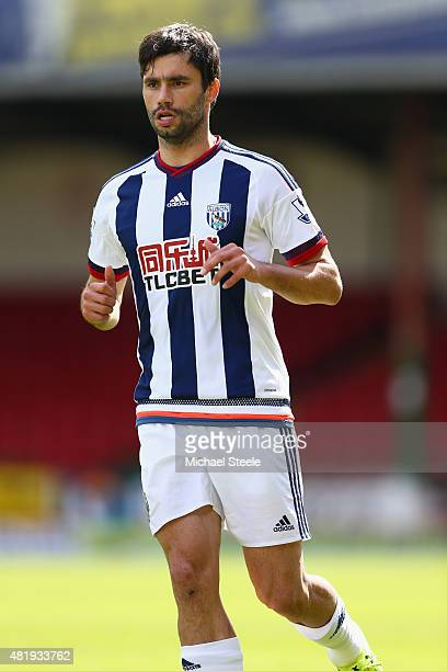 Claudio Yacob of West Bromwich Albion during the PreSeason Friendly match between Swindon Town and West Bromwich Albion at the County Ground on July...