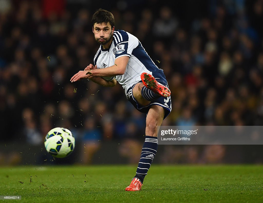 <a gi-track='captionPersonalityLinkClicked' href=/galleries/search?phrase=Claudio+Yacob&family=editorial&specificpeople=4104249 ng-click='$event.stopPropagation()'>Claudio Yacob</a> of West Bromwich Albion in action during the Barclays Premier League match between Aston Villa and West Bromwich Albion at Villa Park on March 3, 2015 in Birmingham, England.