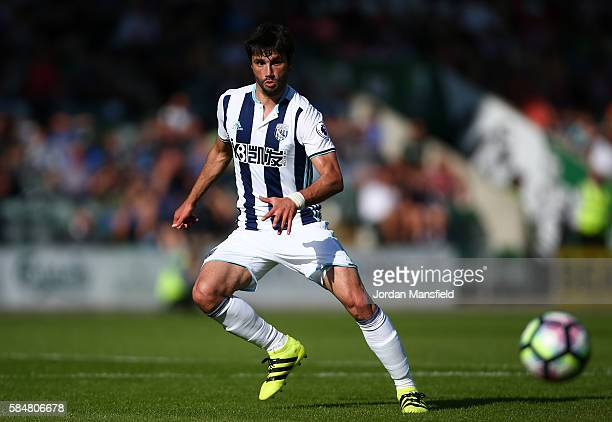 Claudio Yacob of West Bromwich Albion in action during the preseason friendly between Plymouth and West Bromwich Albion at Home Park on July 30 2016...