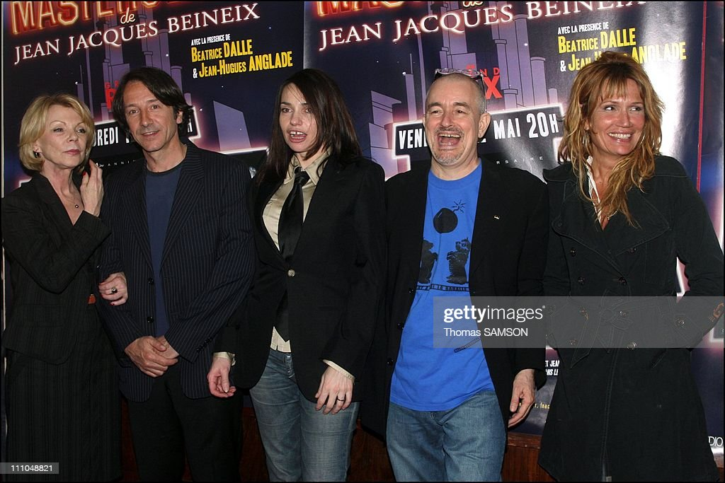Claudius Ossard, Jean-Hugues Anglade, Jean-Jacques Beineix, and Douay Celarie at the Grand Rex in Paris, France on May 12th, 2006.