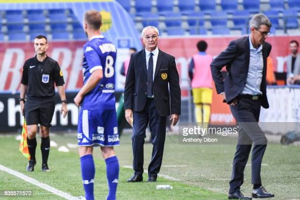 Claudo Ranieri coach of Nantes during the Ligue 1 match between Troyes Estac and FC Nantes at Stade de l'Aube on August 19 2017 in Troyes