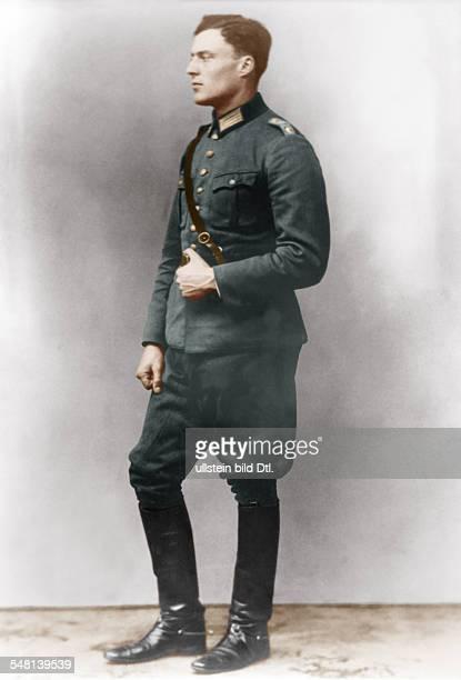 CLAUS VON STAUFFENBERG Claus Schenk Graf von Stauffenberg German officer and Resistance fighter Photographed while a cavalry lieutenant in Bamberg...