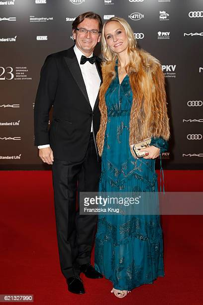 Claus Strunz and Anne MeyerMinnemann arrive at the 23rd Opera Gala at Deutsche Oper Berlin on November 5 2016 in Berlin Germany