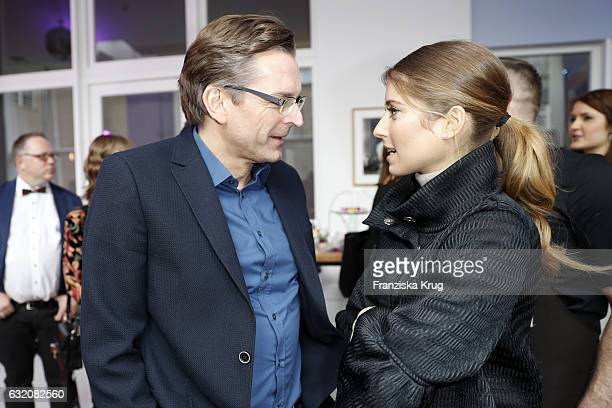 Claus Strunz and Cathy Hummels attend the 'Gala' fashion brunch during the MercedesBenz Fashion Week Berlin A/W 2017 at Ellington Hotel on January 19...