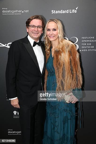 Claus Strunz and his wife Anne MeyerMinnemann editor in chief of GALA during the 23rd Opera Gala benefit to 'Deutsche AIDSStiftung' at Deutsche Oper...