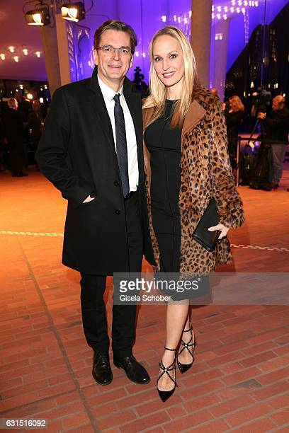 Claus Strunz and his wife Anne MeyerMinnemann editor in chief of Gala during the opening concert of the Elbphilharmonie concert hall on January 11...