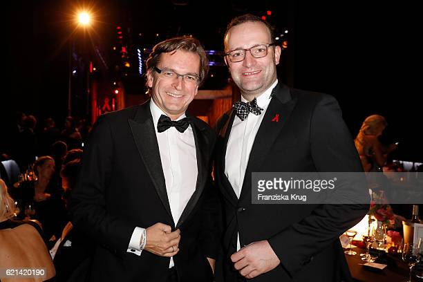 Claus Strunz and Jens Spahn attend the aftershow party during the 23rd Opera Gala at Deutsche Oper Berlin on November 5 2016 in Berlin Germany