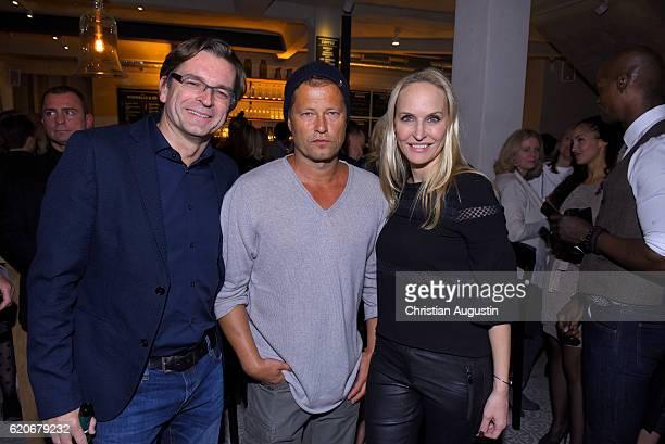 Claus Strunz Til Schweiger and Anne MeyerMinnemann attend the Grand Opening of the 'Barefood Deli' restaurant on November 2 2016 in Hamburg Germany